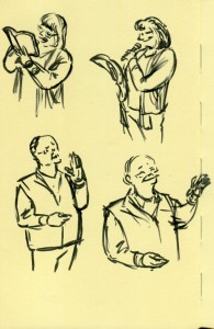 Second page of speaker gestures.