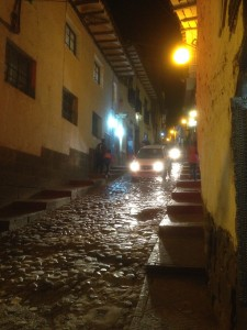 Cusco at nightfall.