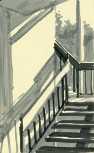 Stairway at 4 in the afternoon.