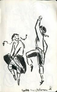 Dancers in San Blas district.