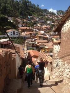 Walking through the San Blas district.