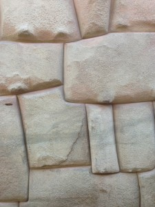 Close up of an ancient Incan wall.