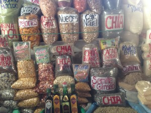 A shop sells grains in the market.
