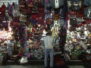A shop selling backpacks.