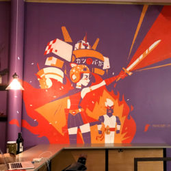 Katsu Burger Mural Progress Photos